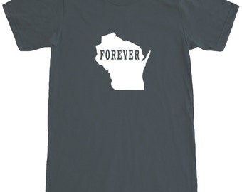 Wisconsin Forever T-Shirt Men's Cotton Short Sleeve Tee SEEMBO