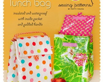 Lunch Bag PDF Downloadable Pattern by MODKID - Instant Download