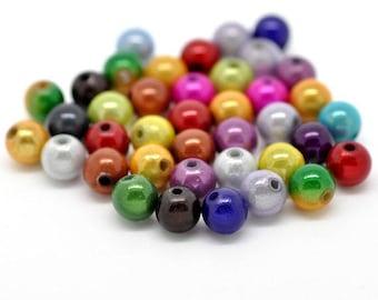 10 x magic round beads 10mm - assortment