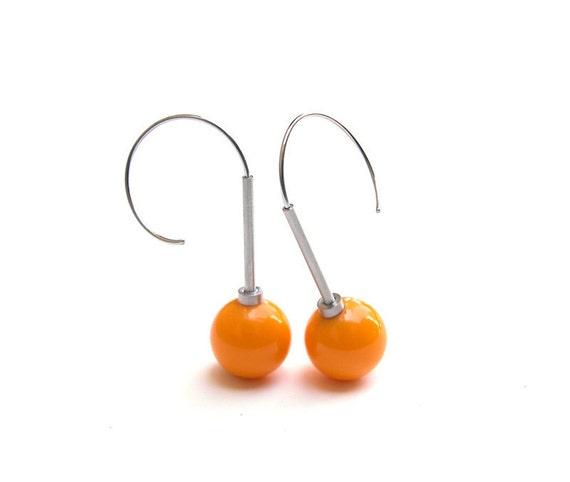 Cerasa Earrings Phenolic, Stainless Steel, Aluminum
