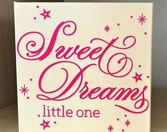 girl nursery canvas, baby room canvas sign , baby room decor