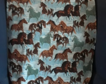 Adult Clothing Protector - Wild horses, longer length