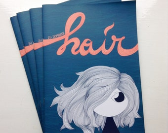 Hair - comic zine - original silent comic