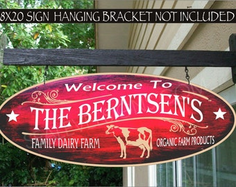 COW Country Ranch Farm Gift Aluminum Custom Personalized Sign