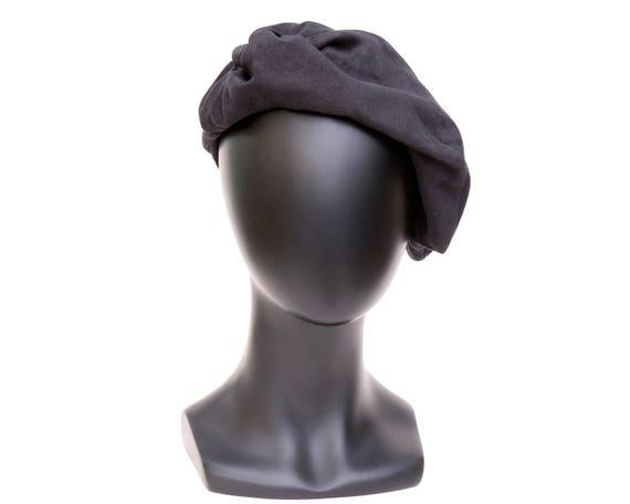 Suede Beret Hat