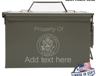US Army Custom Engraved 30/50 Cal Ammo Can Personalized Dad Gift Cool Guy Gifts Father's Day Gift Grandpa Gift Husband Gift Groomsmen Hunter