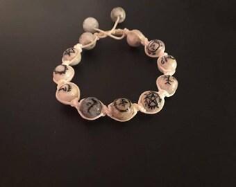 Supernatural sigil bracelet howlite stones