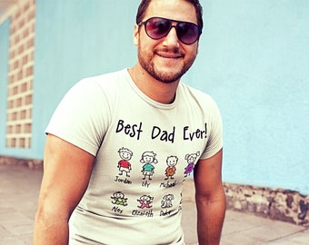 Custom Dad | Father | Birthday Gift | Father's Day | Stick Figure Saying T-Shirts