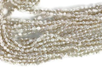 White Oblong Pearls