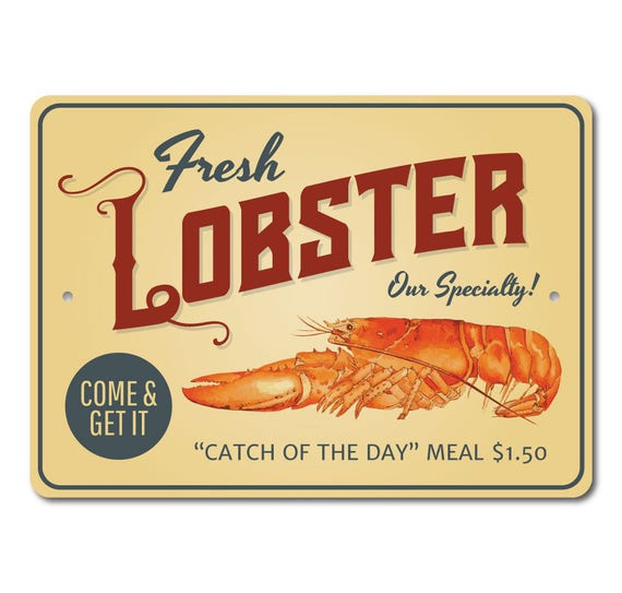 Lobster Decor Lobster Sign Lobster Lover Gift Seafood