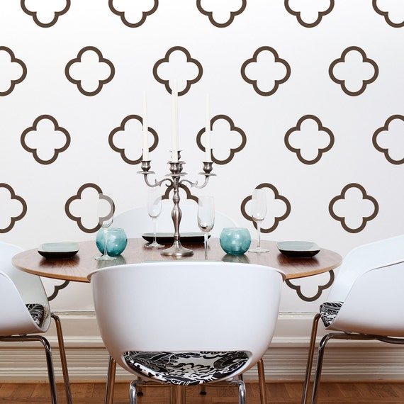 sc 1 st  Etsy & Moroccan Style Vinyl Wall Decals Moroccan Quatrefoil Bubbles