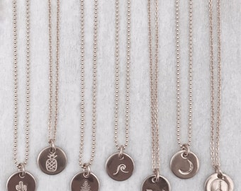 Mini Disc Necklace