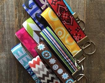 Key Fob Wristlet - Key Chain - Fabric Keychain - Fabric Key Fob - Ready To Ship