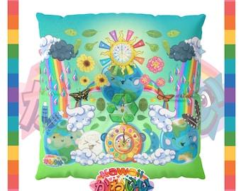 Kawaii Universe - Cute World Peace Showers Designer Floor Pillow