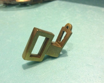 1 ART DECO KEYHOLE Knob, Small Antique Keyhole Cabinet Pull, Antique Hardware,Hardware Supplies,Treasure Chest hardware,Drawer Pulls