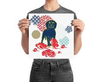 2018 Year of The Dog Modern Happy Chinese New Year Poster