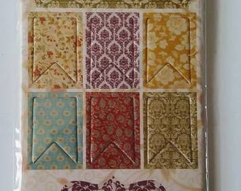 Fabrications by Teresa Collins- Pretty Crafting Punch Out Chipboard Tags & Shapes Birthday Love NIP Free Shipping!