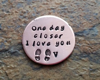 one day closer pocket coin deployment gift gift airforce military deployment challenge coin gift for husband