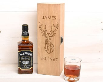 Personalised whiskey Box Gift For Him Birthday Day Gift, Gift for Her