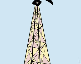 Stonewall: Digital Print Windmill Texas
