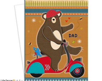 Greeting Card for Dad, Card for Dad, Dad Birthday, Dad Father's Day, Card for Him, Inspirational Art, Birthday Card for Dads