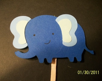 elephant cupcake toppers- set of 24