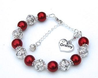 Granny Charm Bracelet, Gift for Granny, Granny Jewelry, Grandmother Bracelet, Gift for Grandma, Under 50, Granny Gift