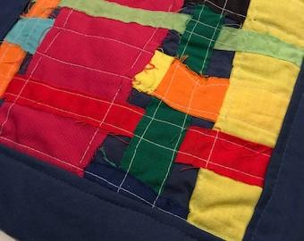 Framed patchwork bag