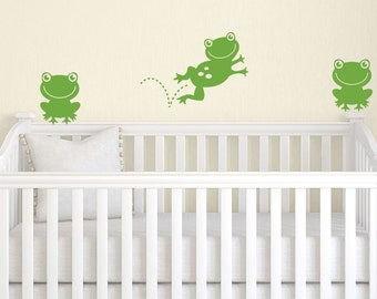 Frog Wall Decal - Children Wall Decal - Frog Nursery Decor - Frog Decor - Frog Vinyl Decal
