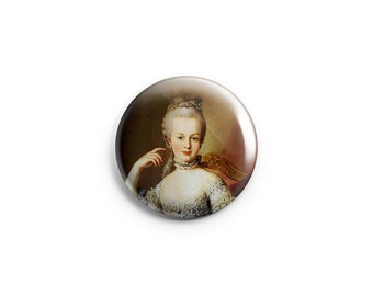"""Marie Antoinette button - 1.25"""" Pinback Button - Marie Antoinette badge - Marie pin  - French Revolution pin - Let them eat cake - history"""