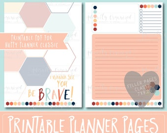 Happy Planner PRINTABLE Filler Pages | Planner Refills / Inserts - 7 x 9.25 | Starfish | Create 365 | Me & My Big Ideas | mambi | Undated