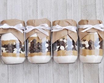 Triple Chocolate Chip Cookies - Mason Jar Cookie Mix