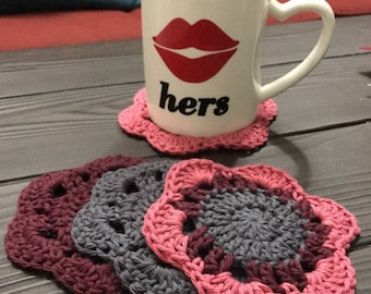 Beautiful Crochet Coasters (Set of 4)