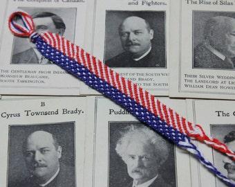 USA Bracelet, 4th of July Bracelet,American Flag Bracelet,Fourth of July Bracelet,Red White Blue,Patriotic Bracelet,Independence Day