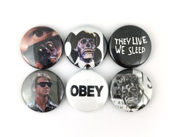 """They Live - 1"""" Button Pin Set"""