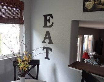Eat sign - Eat - Kitchen Art - Wall Art - Home Decor - Metal Eat Sign