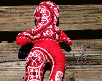 Voodoo doll, goth doll, revenge doll, pin cushion doll, divorce doll, Halloween gift, pinhead doll