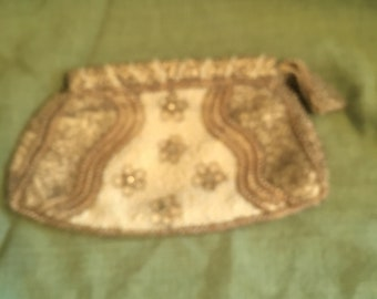 Vintage Beaded Clutch Purse 1940s?