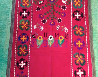 "DATED 1968 / Sweetest small vintage Uzbek SUZANI Embroidery / 3'2""x4'6"" / 96x144cm"