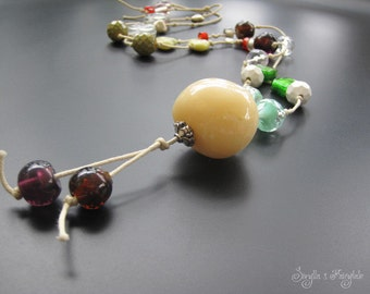Long knotted Necklace -Funky chic