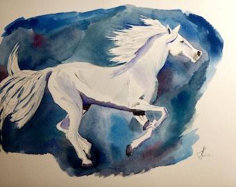Horse Original Watercolour