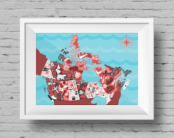 Canada Illustrated Map