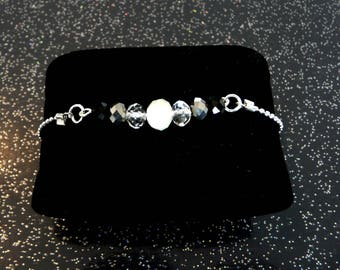 chic and sophisticated woman bracelet silver plated