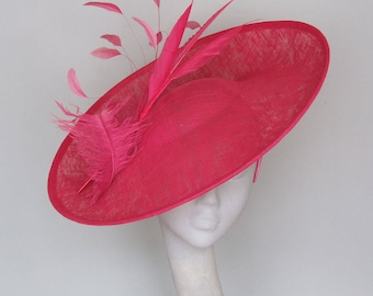 Ready to ship Magenta Pink Kentucky Derby Hat,  Royal Ascot Hat, Occasion Hat SS 2018