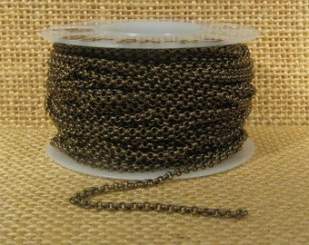 2.0mm Rolo Chain - Antique Brass - 2.0mm Links - CH48