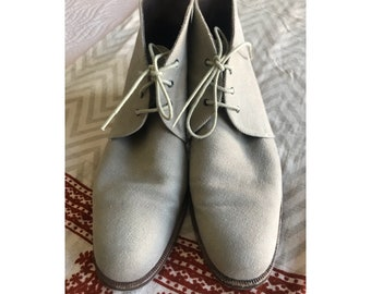 Vintage Canvas Ankle Boots