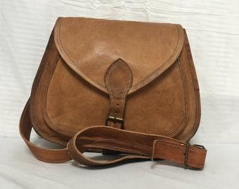 Saddle Bag Purse, Brown Leather Purse, Bag, Shoulder Bag
