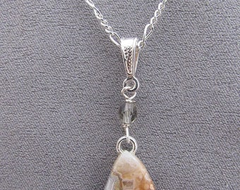 Crazy Lace Agate Necklace/Gift for Her