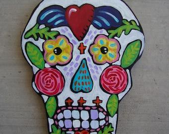 Mexican Inspired Folk Art Skull