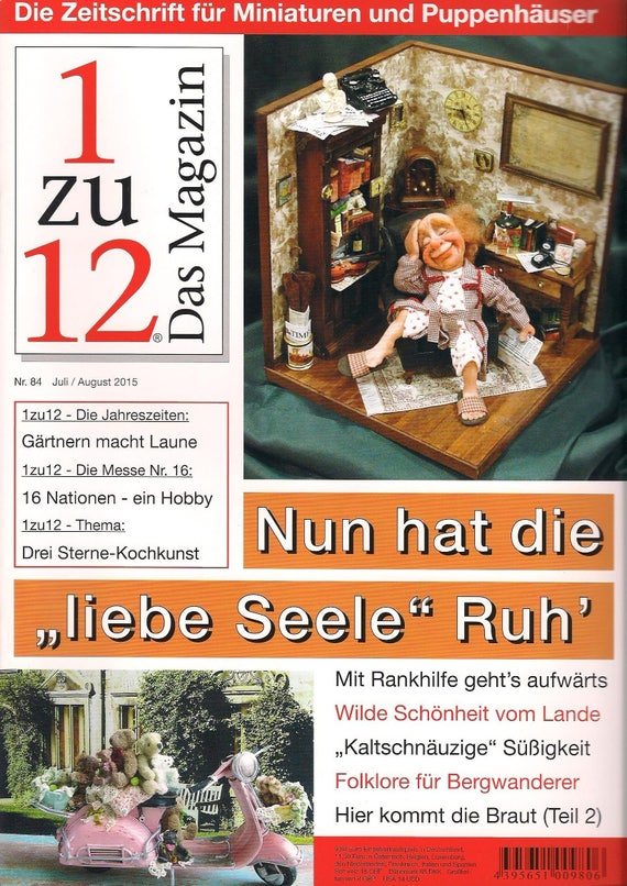 """84-1zu12 The magazine, the Journal for Miniatures and Doll houses, No. 84 July/August 2015, now has the """"Dear Soul"""" peace"""